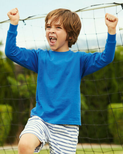 Fruit of the Loom enfants Haut à manches longues T-shirt Casual coton Valueweight