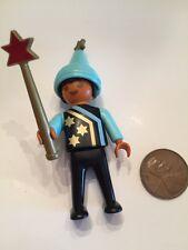 Playmobil Figure Castle Wizard's Workshop Child Apprentice Hat Vintage Rare 3839