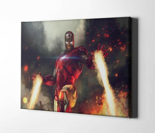 Iron Man Painting Framed Canvas Print