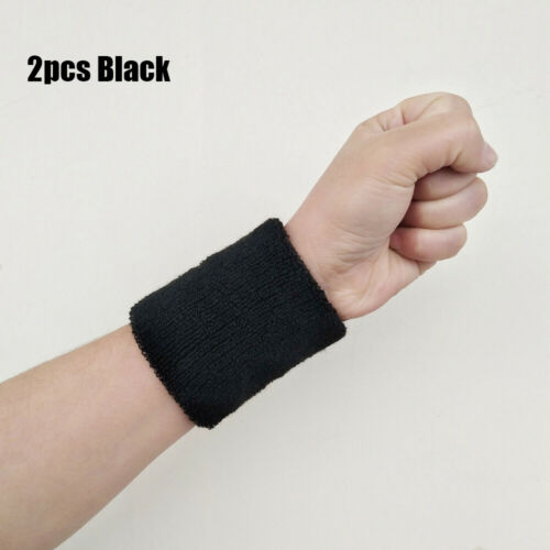 Gym Sweat Wristband Sport Sweatband Tennis Hand Bands Cotton Wrist Band
