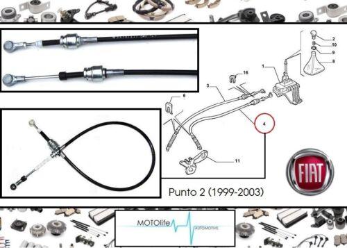 Schalthebel Fiat PUNTO 2 55194775 Seilzug Schalthebel Schaltseil Linke