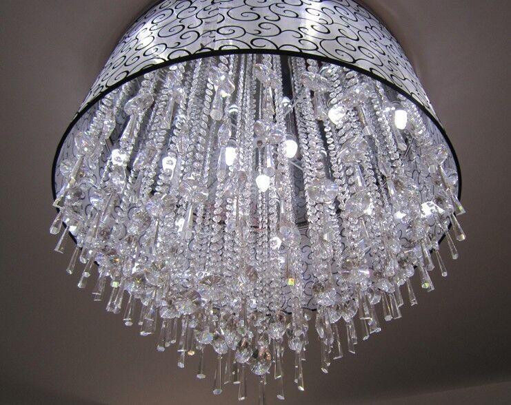 D292 Modern Crystal Diameter 60CM Height 41CM Decorative Ceiling Light Lamp O