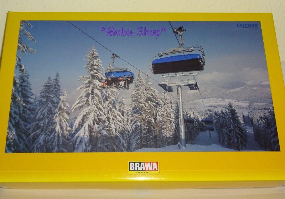 BRAWA 6346 6346 6346 h0 funivia POLTRONA ferroviario (6er-POLTRONA) incluso kit di costruzione  63500 b8998b