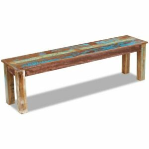 vidaXL-Solid-Reclaimed-Wood-Bench-Dining-Seats-Home-Furniture-Entrance-Hall