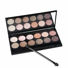 12 Colors Eye Shadow Shimmer Matte Eyeshadow Palette & Makeup Cosmetic Brush Set
