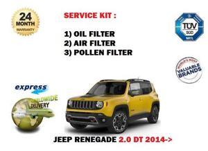 Fits Jeep Renegade 1.6 2.0 Multijet Diesel Oil,Air /& Fuel Filter Service Kit j5a