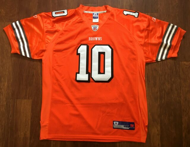 buy online a52b9 c16eb Brady Quinn #10 Reebok Authentic Cleveland Browns NFL Football Jersey 52 XL  Sewn