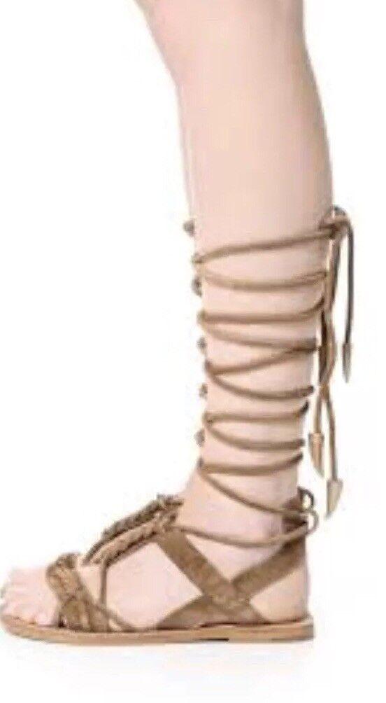 nuovi prodotti novità Designer ASH Flats Summer Sandal scarpe Nude Calfskin Leather Leather Leather Gladiator 37 353   negozi al dettaglio