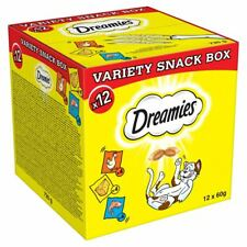 12x60g Dreamies Adult Cat Treats Mixed Variety Snack Box Chicken Cheese & Salmon