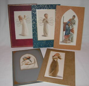 willow tree pumpernickel press lot of 5 assorted christmas cards ebay
