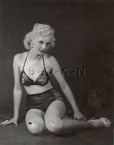 Org Vintage 1940s-50s Sepia Semi Nude RP- Skinny Brunette
