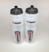 2-pack Zefal Magnum Bike Bicycle Clear Water Bottles 33oz.