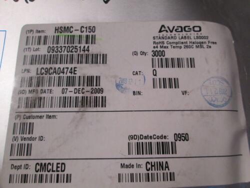1,9v 90mcd SMT hsmc-c150 20ma 100 ST = € 5,98 Avago SMD-LED 1206 ROSSO 626nm
