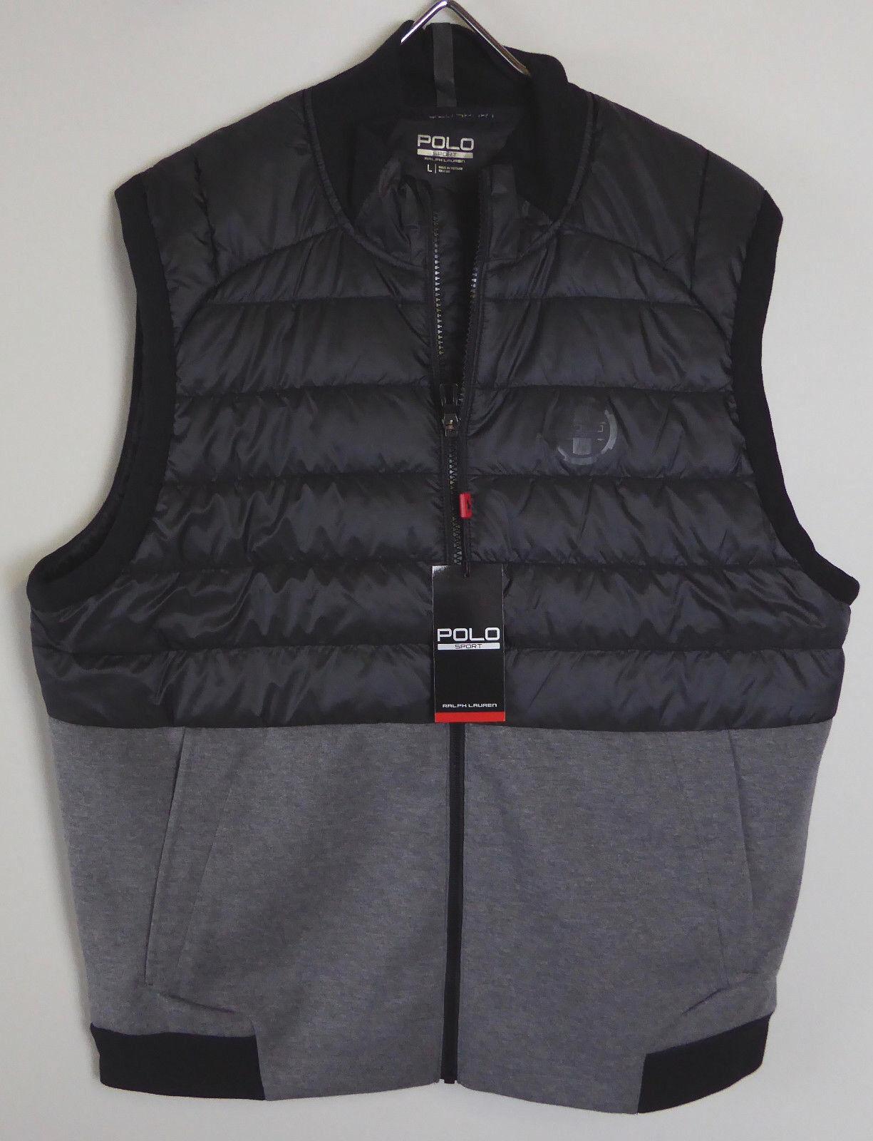Polo Sport Ralph Lauren Hybrid Vest 750 Fill Puffer & Double Knit Vest NWT  165