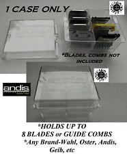 Andis Clipper Blade Attachment Guide Comb Storage Organizer Case Also For Wahl