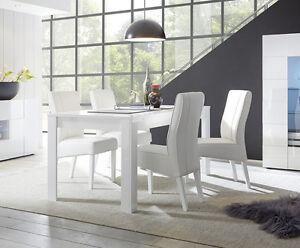 Tavolo moderno e di design bianco lucido ebay - Tavolo bianco lucido ...