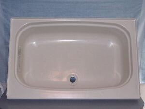 Image Is Loading RV Marine White Center Drain Bathtub Wash Tub