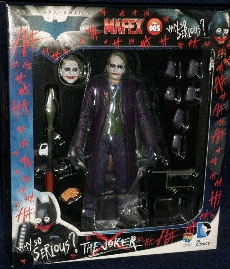 MEDICOM Jouet MAFEX No.005 Action The Dark Knight Le Joker DC COMICS FIGURE NEW