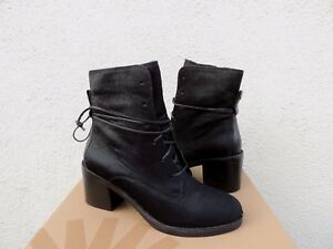 2470fb6a7dd Details about UGG BLACK ORIANA EXOTIC LACE-UP HIGH HEEL ANKLE BOOTS, US  6.5/ EUR 37.5 ~NIB