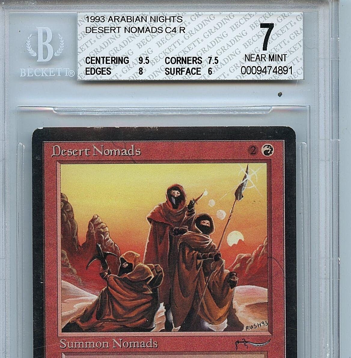 MTG Arabian Nights Desert Desert Desert Nomads BGS 7.0 (7) NM Magic Card 4891 c4d861