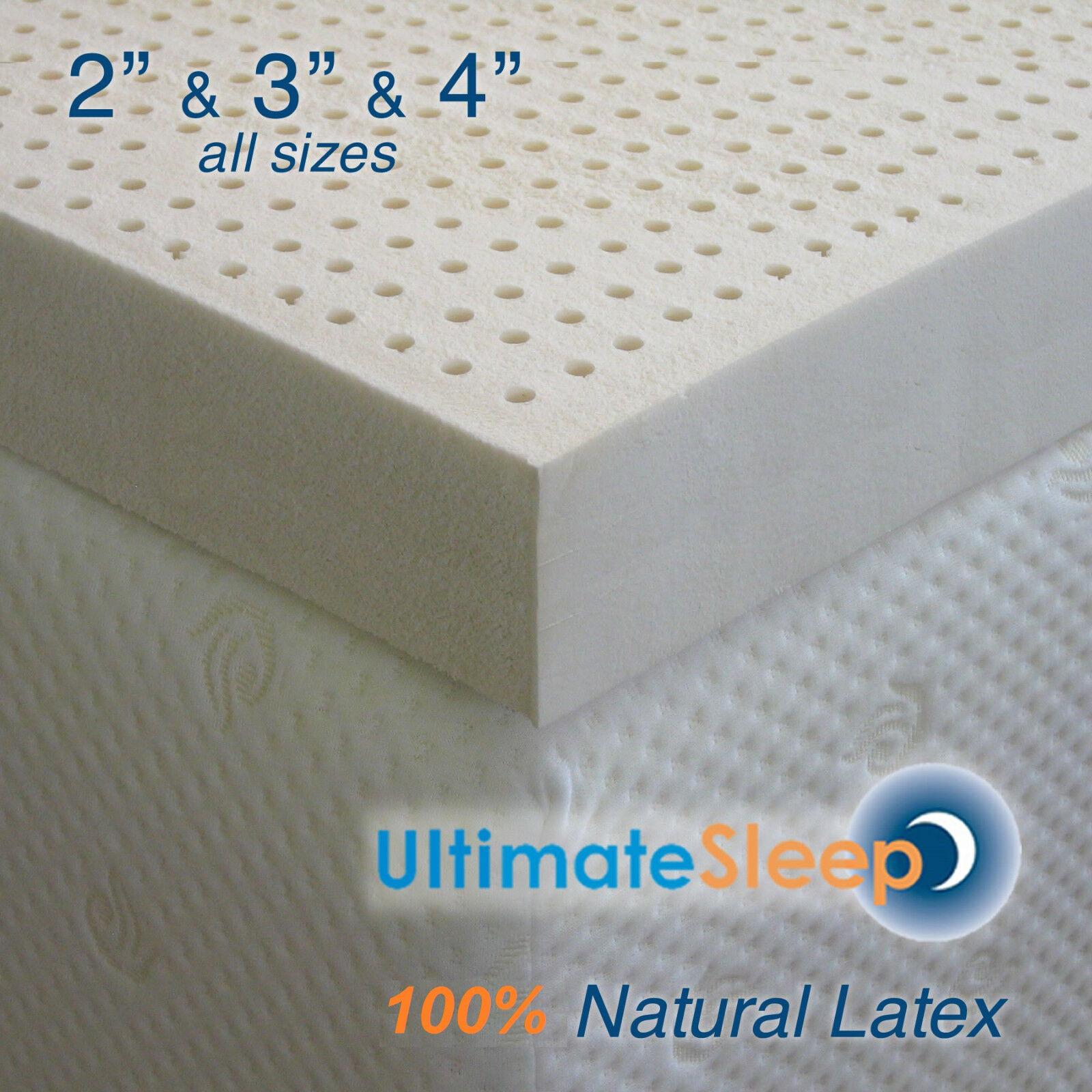 NEW Certified 100% Natural Dunlop Latex Mattress Pad Topper, Grün US Made