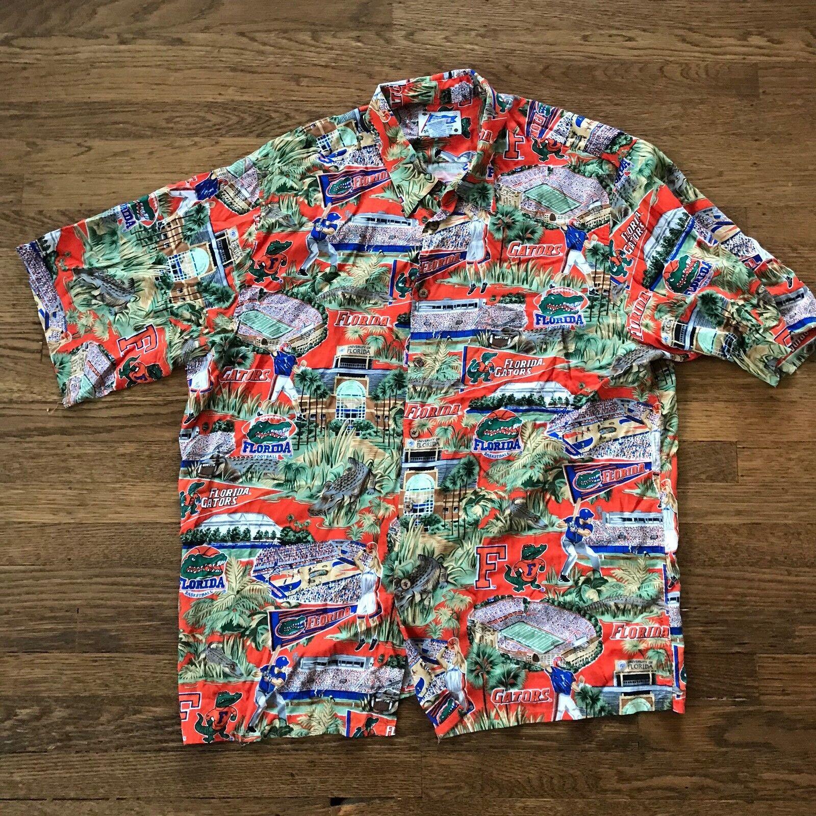 Mens University of Florida Gators Reyn Spooner Hawaiian Shirt Size XXL 2xl