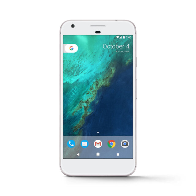 Google Pixel XL - 128GB Very Silver (Verizon + GSM Unlocked) Smartphone New