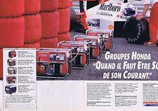 Publicité Advertising 016 1989 Honda groupe électrogène    (2 pages)