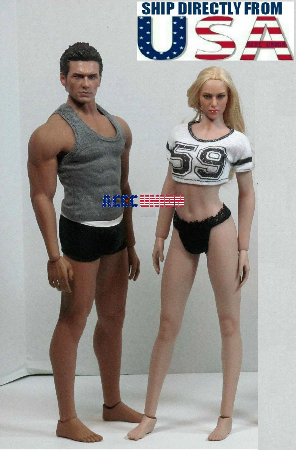 PHICEN TBLeague 1/6 Scale Steel Skeleton SEAMLESS Figure Body Doll Set U.S.A.