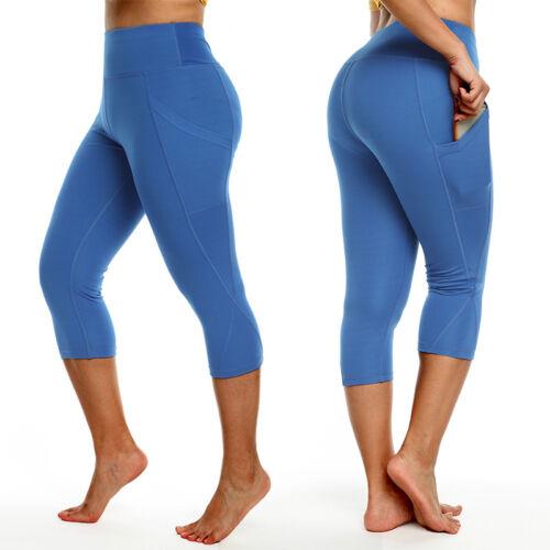 2018 Womens Sport Capri Pants High Waist Yoga Fitness Leggings Gym Trousers M817