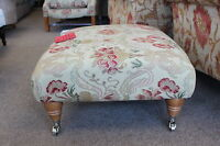 DESIGNER MOSELEY FOOTSTOOL IN JULIA FABRIC