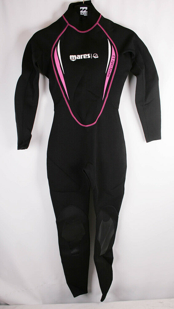 Mares Traje de Neopreno Mujer   Steamer Manta Negro Fucsia blancoo S2 (D 36)