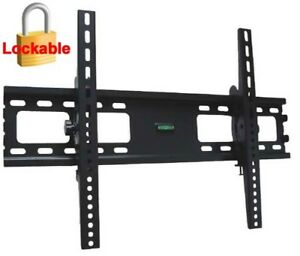 LCD-LED-PLASMA-TILT-TV-WALL-MOUNT-BRACKET-37-42-47-50-52-55-60-65-70-75-LOCKABLE