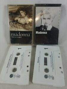"""1983 Lot of 2 Madonna Audio Cassette Tapes """"Maddona"""" & """"Like a Virgin"""" See Pics!"""
