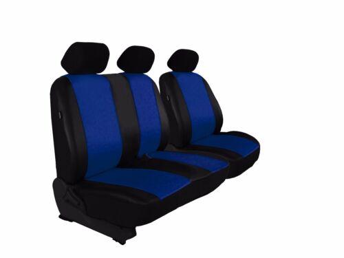 paßgenaue Sitzbezüge Kunstleder BLAU Für Ford CUSTOM hochwertige