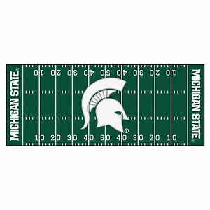 Michigan State Spartans 30 Quot X 72 Quot Football Field Runner