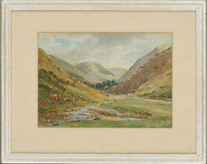 Ashby-Tarr-Early-20th-Century-Watercolour-Carding-Mill-Valley