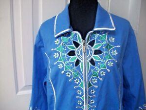 libera Ricamato Nave Verde Xl Wearable Bob Macke Wow Sz Art Bianco Blu Jacket SwnPv1qTxt