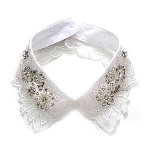 Women Clothes Shirt Fake Collar White Tie Detachable Collar False Collar Lapel