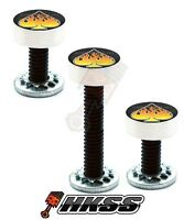 3 Silver Billet Vent Windshield Bolts For 14-up Harley - Flame Spade W0w