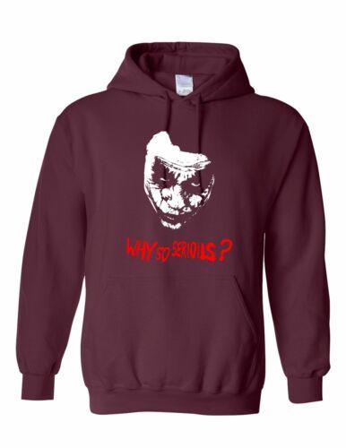 Inspired by Joker Hoodie Why So Serious Batman Hoodied sweatshirt