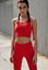 NEW Free People Movement Seamles Ecology Crop Bra in Red XS//S-M//L Made In Italy
