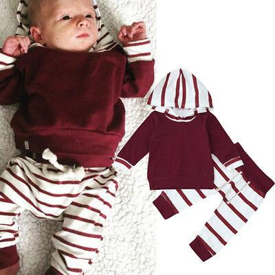 Newborn Infant Kids Boy Hoodie Tops T-shirt+Long Pants 2PCS Outfits Clothes 2018