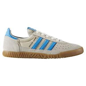 Adidas-Originals-Homme-Indoor-Super-Baskets-Beige-Bleu-Retro-Vintage-Neuf