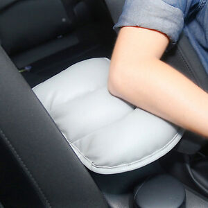 Car-SUV-Gray-PU-Center-Box-Armrest-Console-Soft-Pad-Cushion-Cover-Durable-Wear