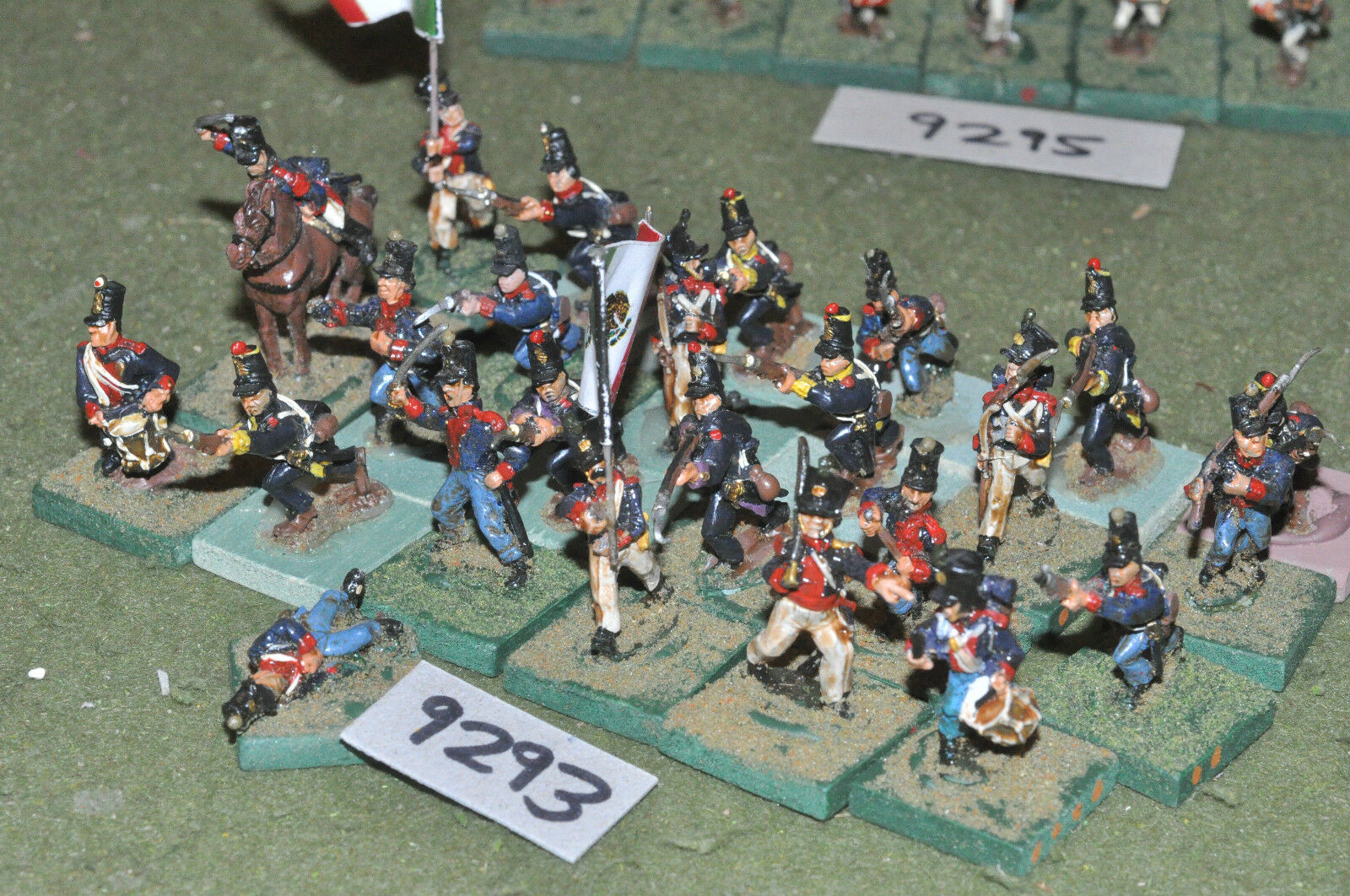 25mm ACW   mexican - american war infantry 24 figs metal painted - inf (9293)