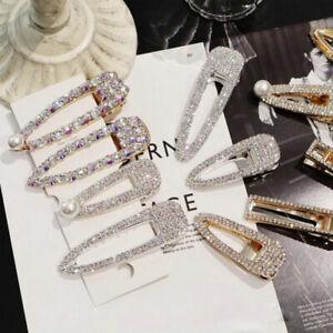 Fashion-Girls-Women-Crystal-Hair-Clip-Snap-Barrette-Hairpin-Bobby-Accessory-HOT