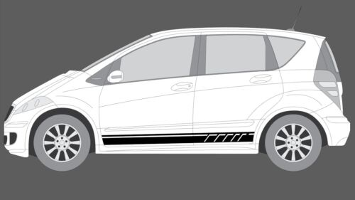 Fits Mercedes-Benz A-Class W169 Side stripe Decal Set, Black EDITION style (AMG)