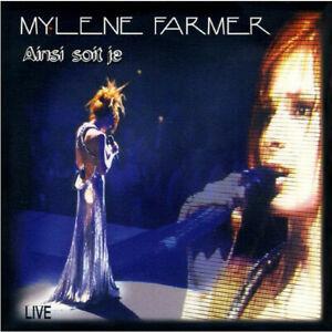 CD-SINGLE-MYLENE-FARMER-AINSI-SOIT-JE-LIVE-CARDBOARD-SLEEVE-RARE-1997