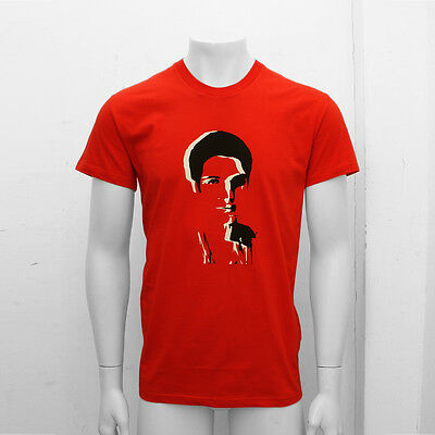 NEW Mens Dior Homme Red Face Print Crew Neck T Shirt Tee Top GENUINE RRP: £200